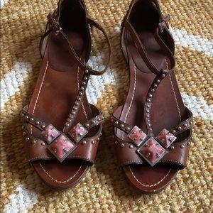 Miu Miu chestnut sandal